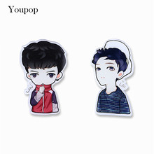 Youpop KPOP EXO LAY Album Brooch Pins K-POP Acrylic Plastic Badge Accessories For Clothes Hat Backpack Decoration HZ360(China)