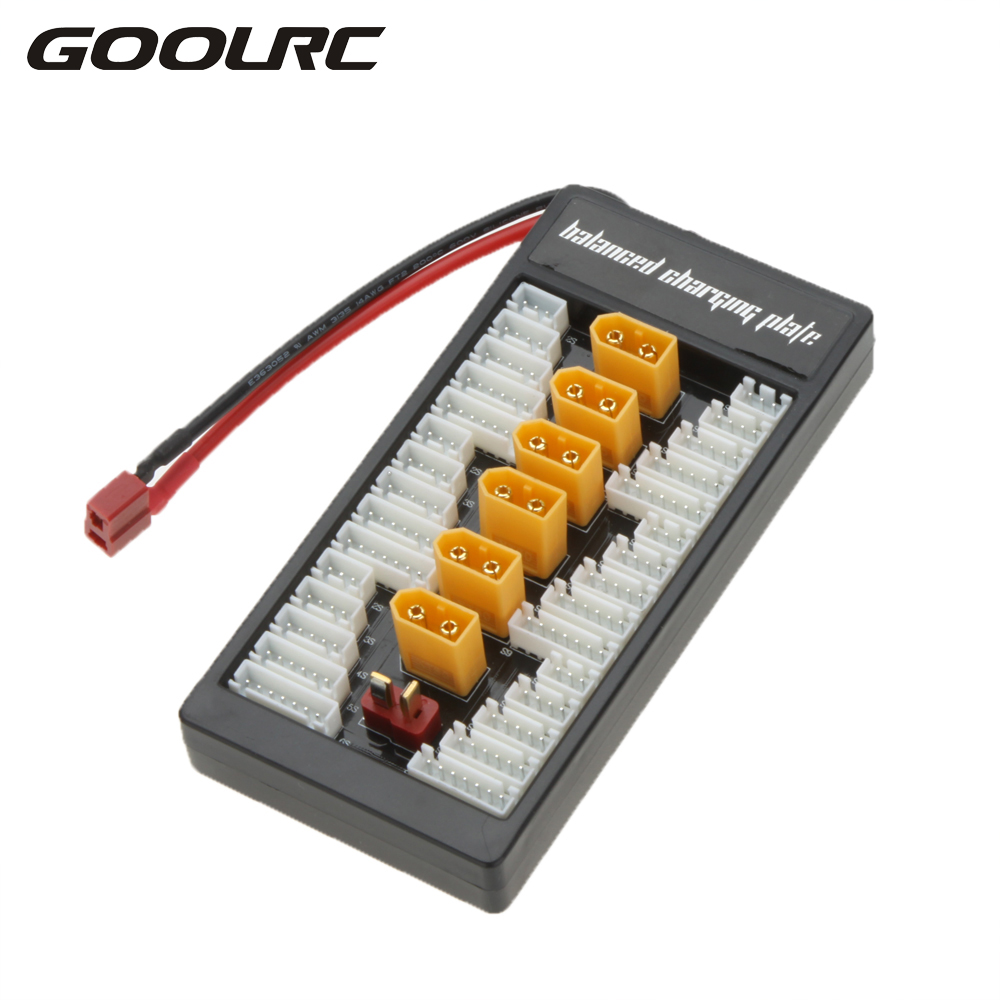 Hot Sale 6 in 1 TX60 Plug 2S-6S Lipo Battery Parallel Charging Board Charger Plate with Balanced Cable for Imax B6 B8 B6AC UNA6 yuneec q500 battery parallel charging board compatible with imax b6 charger adapter