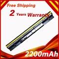 2200 mah 14.4 v batería del ordenador portátil para lenovo ideapad s300 s310 s400 s400u s405 s410 s415 l12s4l01 l12s4z01 4icr17/65 4 células