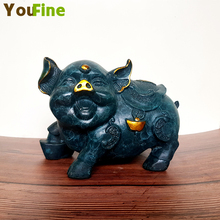 Chinese bronze twelve Zodiac Fortuna pig collection high-end home birthday gift brass sculpture statue