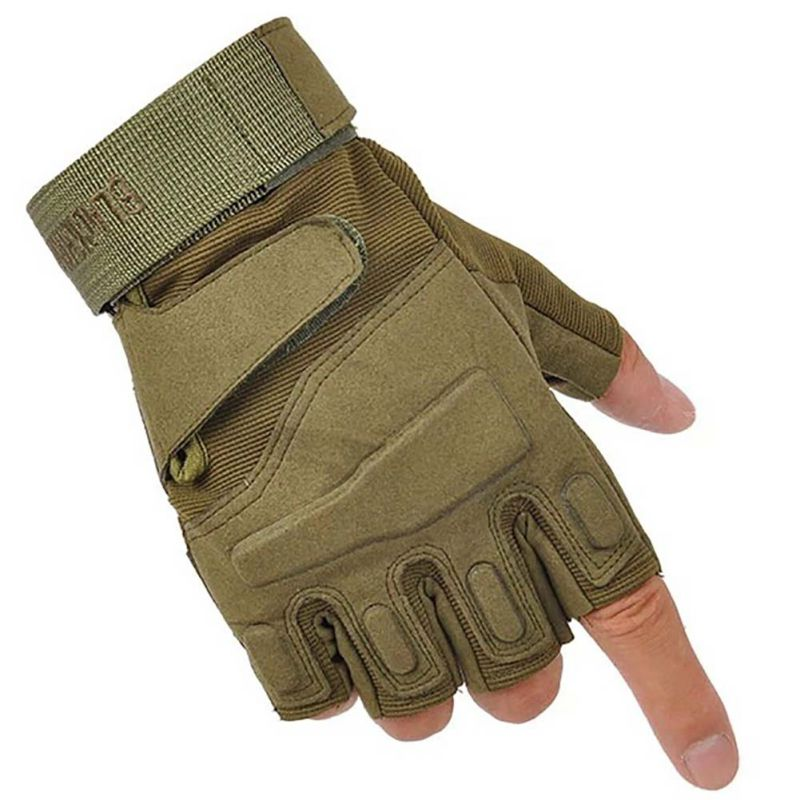 2019 Men Outdoor Short Finger Gloves Sports Army Military Tactical Airsoft Shooting Hunting Outdoor Gloves