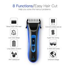 RIWA, низкий уровень шума, стрижка волос, водонепроницаемый, 100-240 В, перезаряжаемый триммер для бороды, для бритья, для мужчин, быстрая зарядка, электрический триммер, машинка для стрижки 43