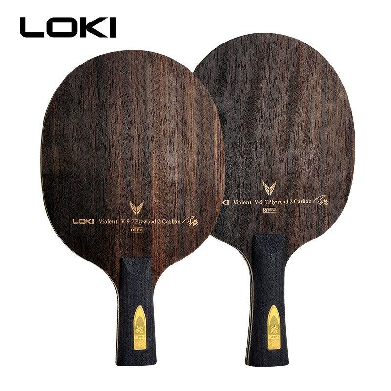 LOKI V9 Ebony Carbon Table Tennis Blade Professional Table Tennis Racket Offensive Arc Ping Pong Blade-in Table Tennis Rackets from Sports & Entertainment