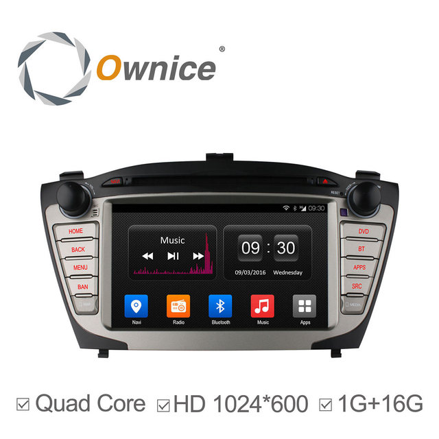 Ownice Android 4.4 автомобиль dvd gps для Hyundai iX35 Tucson 2010 2011 2012 2013 поддержка 3 г Wi-Fi радио BT зеркало ссылка DAB + 1024*600