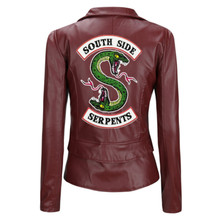 Riverdale South side Leather Jacket Women Bomber Jacket Motorcycle Jackets short slim Coat Zip Outwear Streetwear Korean clothes