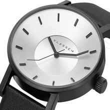 Marca de lujo KLASSE14 Moda Casual Sport Reloj de Cuarzo de Cuero de los hombres Relojes de Las Mujeres 42mm Busines