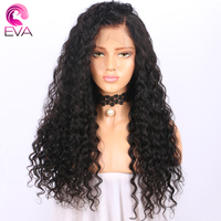Eva Hair 180 Density Glueless Full Lace Human Hair Wigs With Baby Hair Pre Plucked Natural