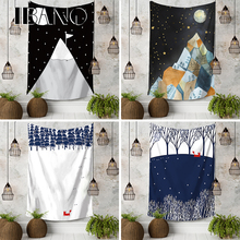 IBANO Wall Tapestry Fox/Mountain Thicker Wall Hanging Tapestry Blanket Home Decoration for Bedroom Dorm Yoga Mat Tablecloth все цены