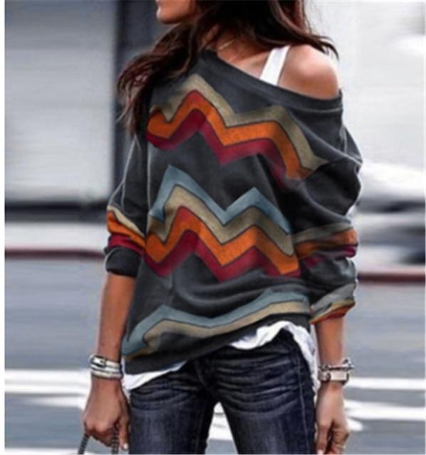 Women Summer Baggy Irregular Top Shirt Long Sleeve Blouse Plus Size Lot K3D5