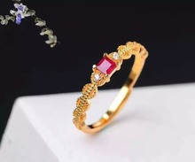 925 sterling natural Ruby rings opening ring fashion gifts for Wedding Gift Fine Jewelry Playful style j030301agh