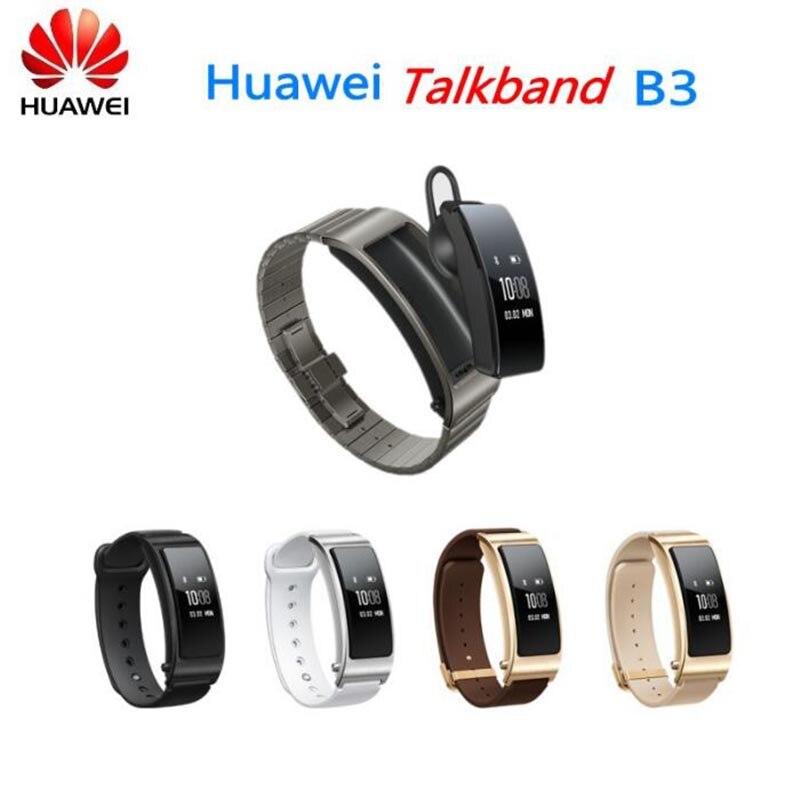 Оригинальный Huawei talkband B3 Talk Band B3 Bluetooth Smart Браслет Фитнес переносной Спорт совместимый Смартфон ремешок