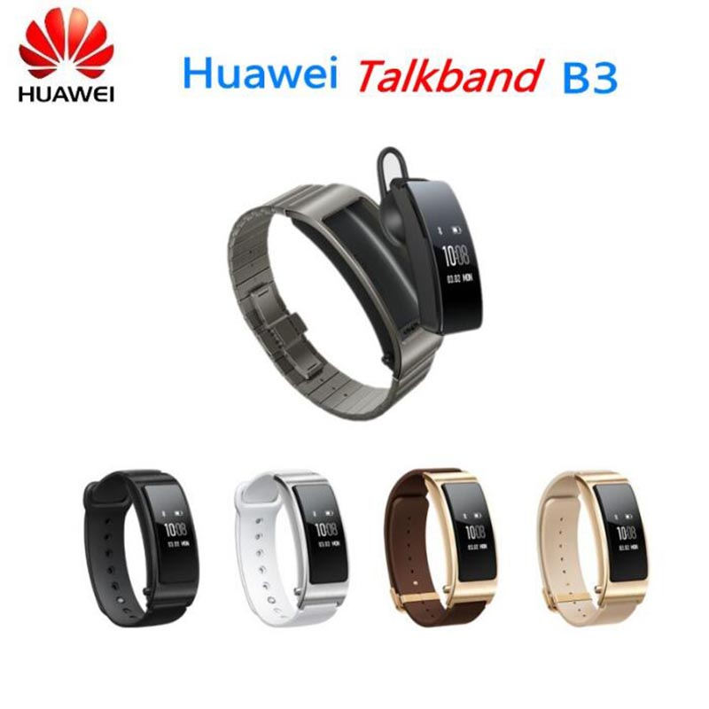 Original Huawei TalkBand B3 Talk Band B3 Bluetooth Smart Bracelet Fitness Wearable Sports Compatible Smartphone Wrist Strap original huawei talkband b2 health smart bracelet band