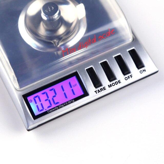 20g x 0.001g high precision AMW Gemini bilancia balanza Digital Milligram/ Gram pocket jewelry Scale electronic scales