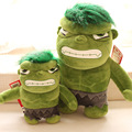 Free shipping Orignal 34cm the Avengers plush doll Q Versions The Incredible Hulk plush toy for gift