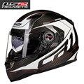 100% Подлинная Углеродного Волокна Шлемы Мотоцикла Гонки Каско Воздушного Насоса Анфас Хельмес LS2 FF396