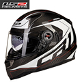 100% Genuine Carbon Fiber Motorcycle Helmets Racing Casco Air Pump Full Face Helmes LS2 FF396