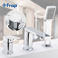 Frap Bathtub Faucet 3 piece Split Bath Tub Hot and Cold Water Mixer With Hand Shower Robinet Banheira Bathroom Shower Tap F1146