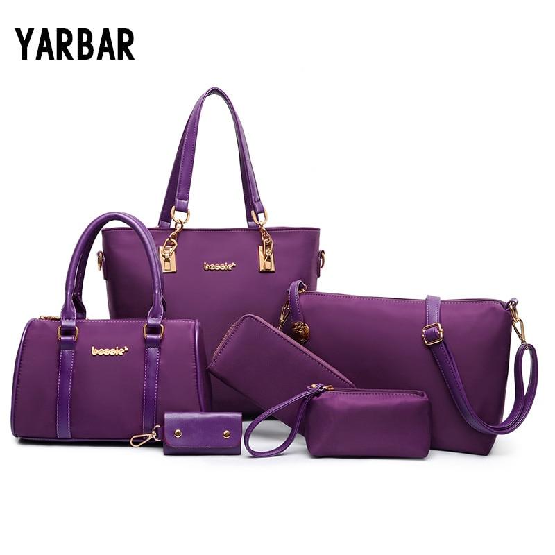 ФОТО 2017 New Brand Design Women Composite Bag Office Satchel Bag Casual Ladies Handbag Shoulder Bag Fashion Women Clutch Tote Wallet