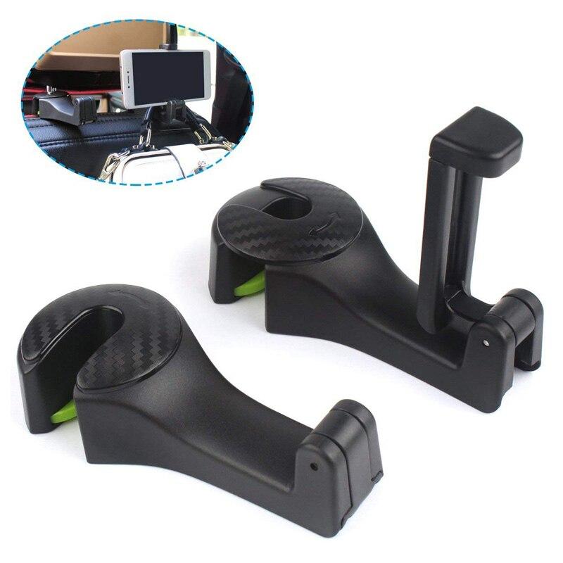 Vehicle Universal Car Headrest Hooks Organizer for Holding Phones and Hanging Handbags,Purses,Bags 2PCS