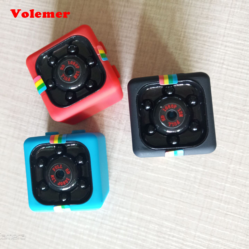 Volemer SQ11 Mini cámara 1080 p deporte Mini DV visión nocturna infrarroja Monitor videocámaras pequeña cámara DV Digital Video grabadora