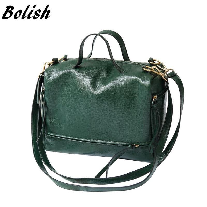 Bolish soft PU leather Women Handbag Larger capacity Crossbody Bag shoulder bag travel casual tote Bag grey soft plain pu crossbody bag