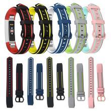 Двойной цвет мягкий силиконовый сменный Браслет для часов Ремешок Для Fitbit Alta/Alta hr/Ace умный Браслет Регулируемый