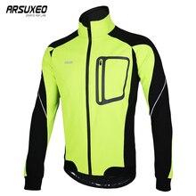 ARSUXEO для мужчин зимние теплые Велоспорт куртка термальность Руна Велосипедный спорт костюмы спортивное пальто MTB велосипеда Джерси ветро