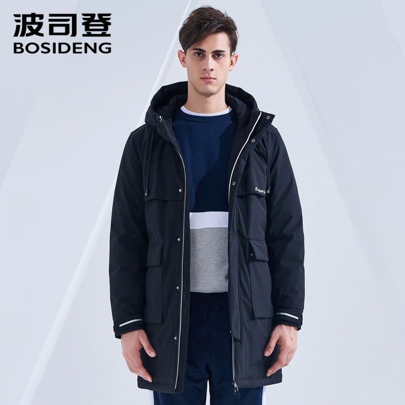 Bosideng Mens Parka Style Down Jacket with Hood