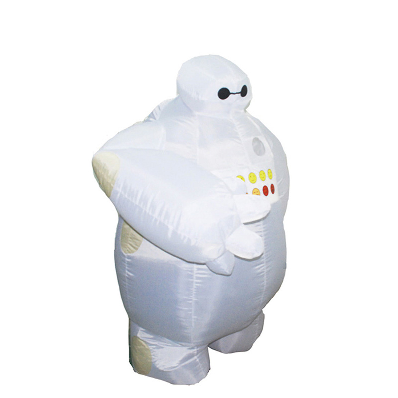 Inflatable Baymax Costume Adult Halloween Cosplay Costume For Men New Big Hero Mascot Inflatable 1.5-2m Baymax Inflatable Suit