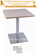 coffee table stainless steel base and MDF top knock down packing 1pc carton fast delivery