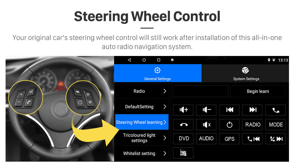 Perfect Seicane 9 Inch 2din 8-core Android 8.1 Car Radio GPS Multimedia Player For 2015 Subaru Forester support Steering Wheel Control 10