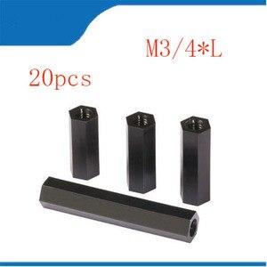 20Pcs/Pack M3 nut m3 Nylon Nuts Spacer S