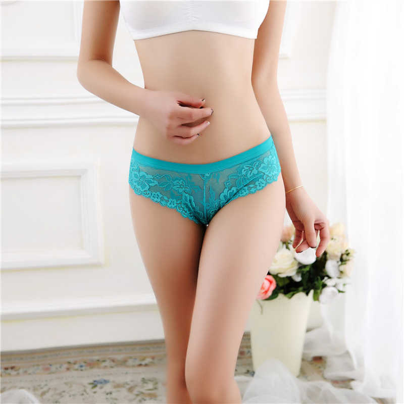 Seksi düşük bel kadın iç çamaşırı dikişsiz ilmek şeffaf dantel süper seksi G String Thongs külot
