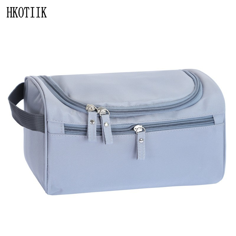 2017 fashion waterproof men s cosmetic bag nylon travel organizer make up lady large necessities cosmetics toilet bag