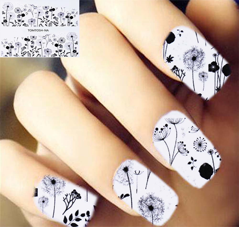 Health & Beauty Us Seller-cheap Nail Art Large Sheet Butterfly Nail Water Transfer Slide Lustrous