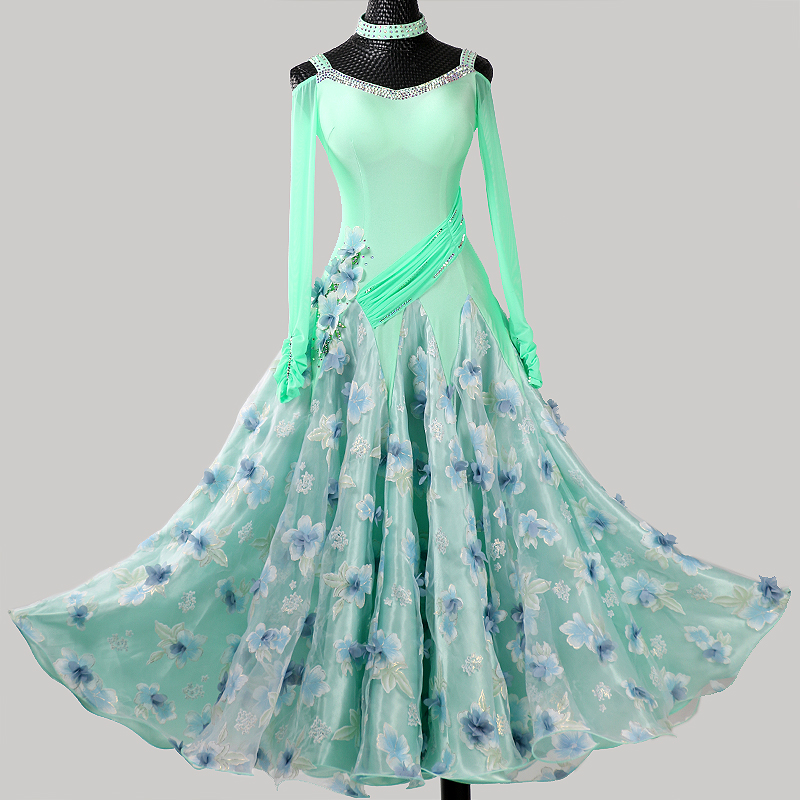 Smooth Ballroom Dress Standard Dance Dress Plus Size Ballroom Dance Costume Foxtrot Dress Rumba Dress Costume Tango Modern Dance
