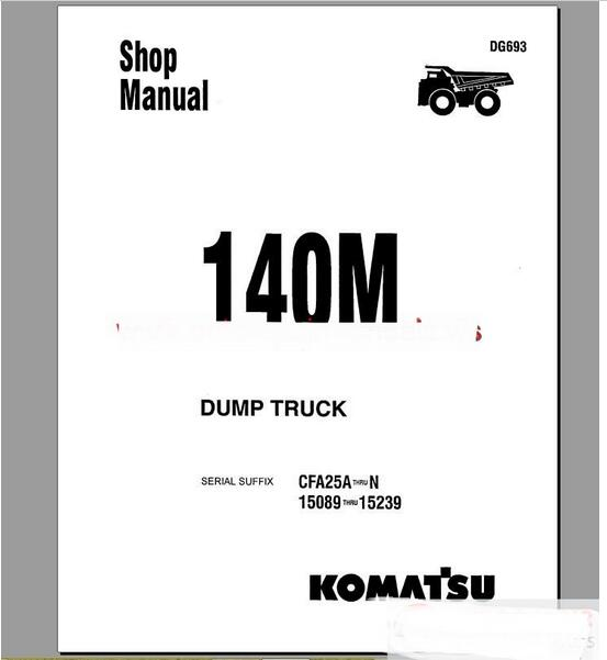 Komatsu Rigid Dump Trucks All Shop Manual (ALL) on