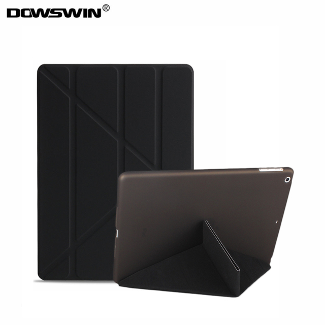 for ipad 2 3 4 case,DOWSWIN pu leather smart wake up sleep+matte PC back cover 11-fold magnetic flip stand For ipad 2/3/4 cases