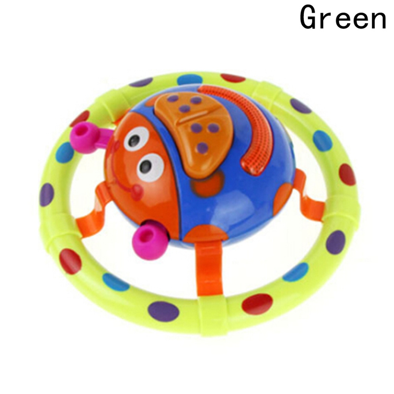 Newborn Baby Grasping Mobiles Funny Toy Rattles Music Toys With Sound And Light Ladybug Shaped Baby Toy