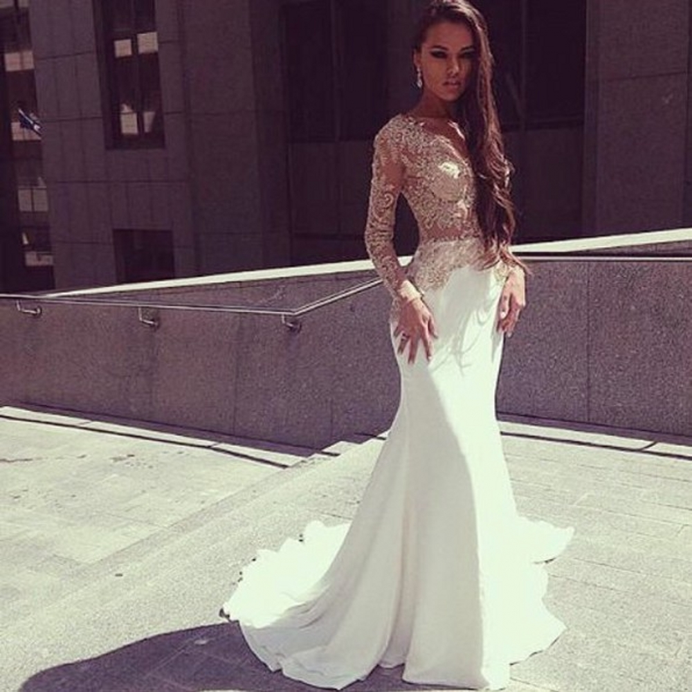 Online Buy Wholesale ivory mermaid prom dress from China ivory ...