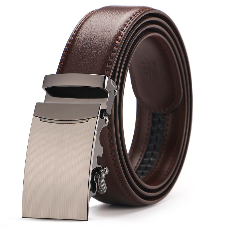 High Quality Automatic Buckle Belts For Man Brown Leather Designer Man Black Belt Fashion Popular Luxury Belts Male