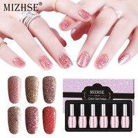 MIZHSE UV Gel Nagellak Glitter Gel Nail Polish LED Gel For Manicure Varnish Hybrid Sets Rose Gold Sequins Color Gel Lacquer