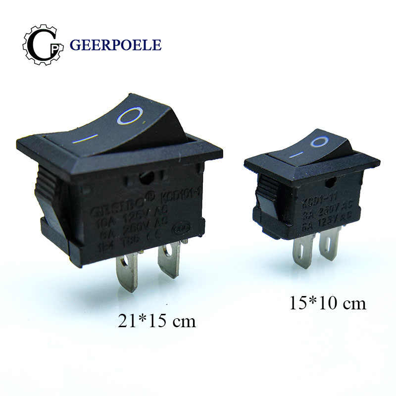 AC 6 A 250 V 10 A 125 V 3 PIN ON//Off Rocker Switch 2 Position Snap Round Bouton SPST
