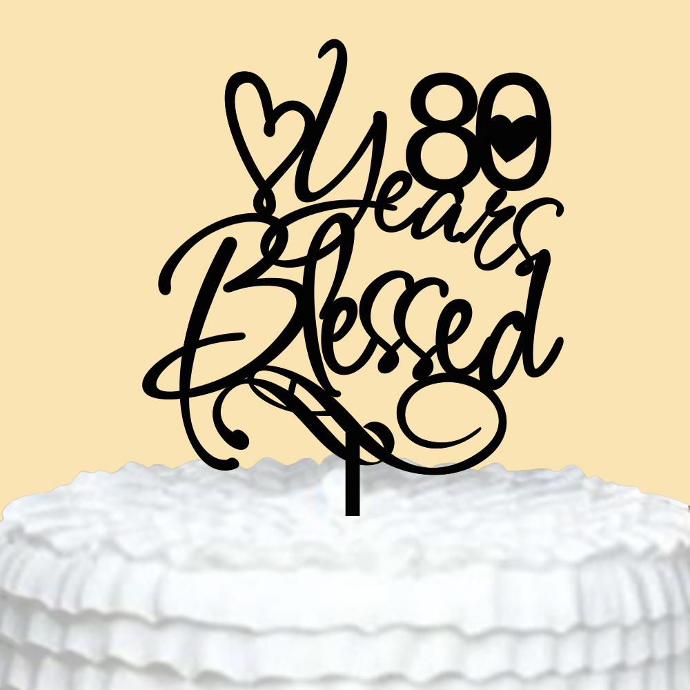 Strange Personalized Birthday Cake Topper Sweet 80 Years Birthday Cake Funny Birthday Cards Online Alyptdamsfinfo