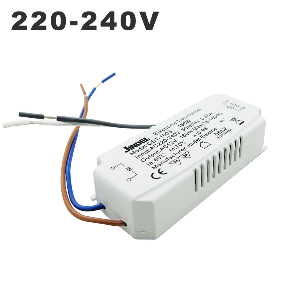 220V to AC 12V 20-60W Smart Power Supply Driver Power Electronic Transformer for Use with 12V Halogen Lamps PUSOKEI 220V to AC 12V Transformer