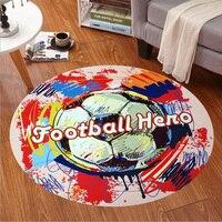 Futebol Graffiti Dos Desenhos Animados Rodada Cadeira Do Computador Tapetes Tapetes Para Sala de estar Quarto Quarto Dos Miúdos Jogar Mat Esteiras de Mesa de Café