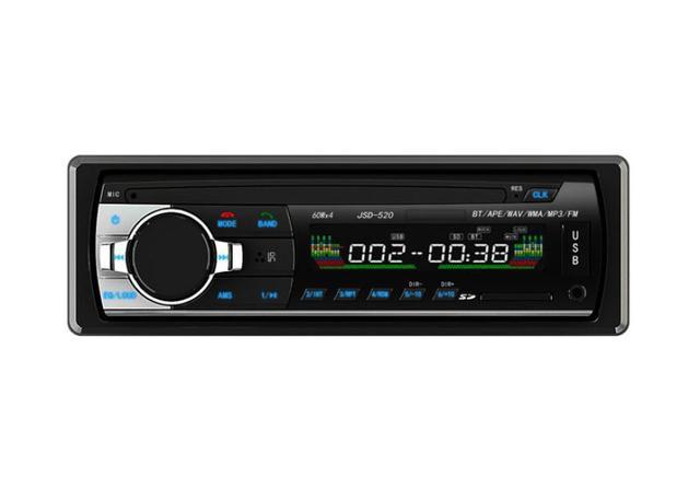 De CALIDAD SUPERIOR Bluetooth Car Stereo Audio 1 DIN En el Tablero de Radio FM Receptor USB SD de Entrada Aux Coche Reproductor de MP3 con Control Remoto JULY1