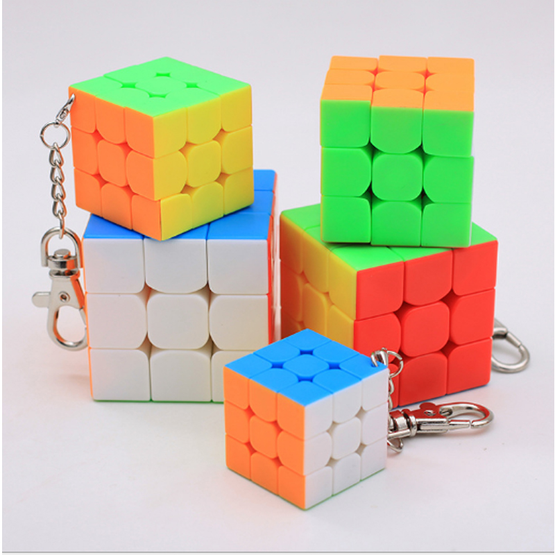 Magic Cubes Toys & Hobbies 5 Pcs/set 3x3x3 Speed Magico Cube Mini Cube Keychain Accessories Educational Learning Toys For Kids Speed Magico Cubo Puzzle T Moderate Price