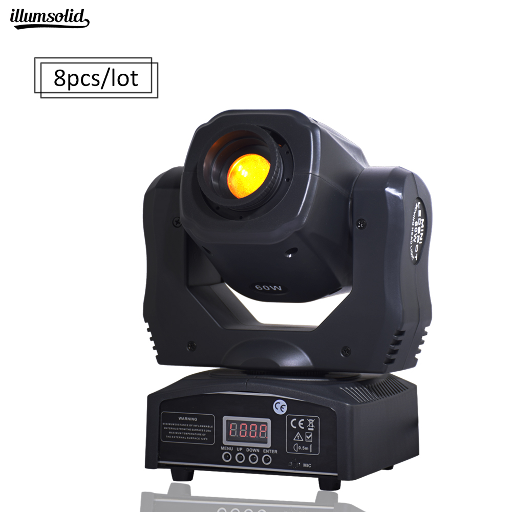 8pieces/lot HOT sale 60W mini led spot moving head 60W gobo Light With DMX512 for disco DJ projector machine Party Decoration8pieces/lot HOT sale 60W mini led spot moving head 60W gobo Light With DMX512 for disco DJ projector machine Party Decoration