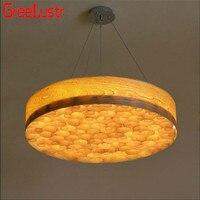 Юго Восточной Азии деревянный в китайском стиле круглый потолочный светильник светодиодный поглощают свет купола диаметром 50/60 см индивид